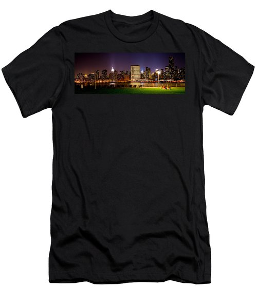 View From Gantry Plaza State Park 2 Men's T-Shirt (Athletic Fit)