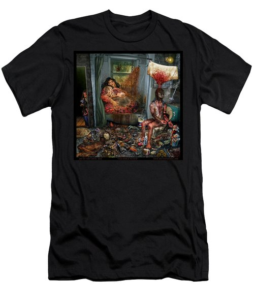 Vile World To View Men's T-Shirt (Slim Fit) by Tony Koehl