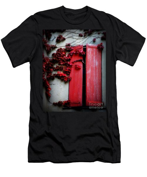 Vines On Red Shutters Men's T-Shirt (Athletic Fit)