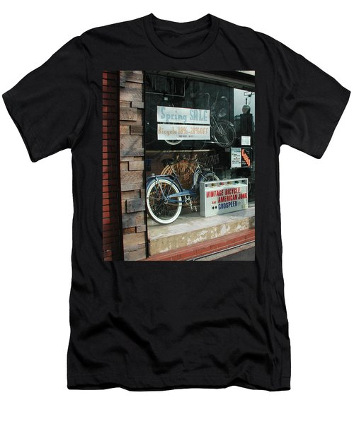Vintage Bicycle And American Junk  Men's T-Shirt (Slim Fit) by Anna Ruzsan