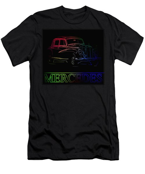 Men's T-Shirt (Slim Fit) featuring the photograph Vintage Mercedes by George Pedro