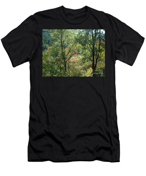 Men's T-Shirt (Slim Fit) featuring the photograph Virginia Walk In The Woods by Mark Robbins