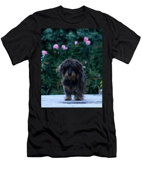 Men's T-Shirt (Slim Fit) featuring the photograph Waiting by Lainie Wrightson