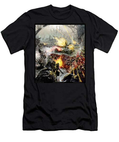 Wars Are Designed To Destroy  Men's T-Shirt (Slim Fit) by Tony Koehl