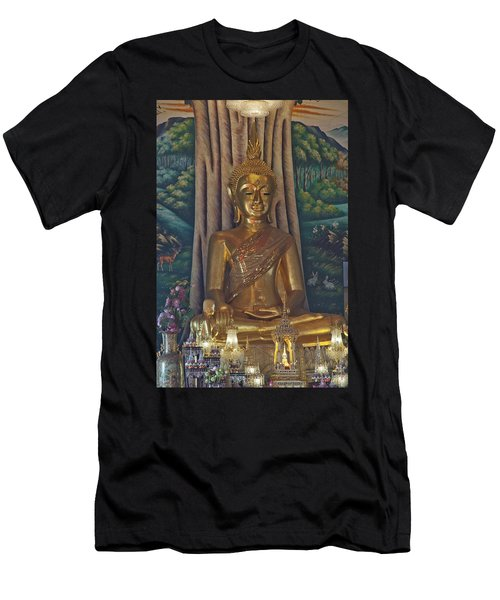 Wat Kaewjamfa Ubosot Principal Buddha Dthb1072 Men's T-Shirt (Athletic Fit)