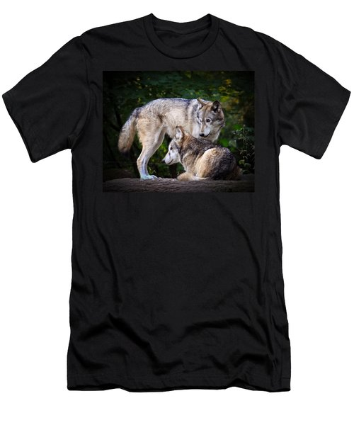 Watching Over Men's T-Shirt (Slim Fit) by Steve McKinzie