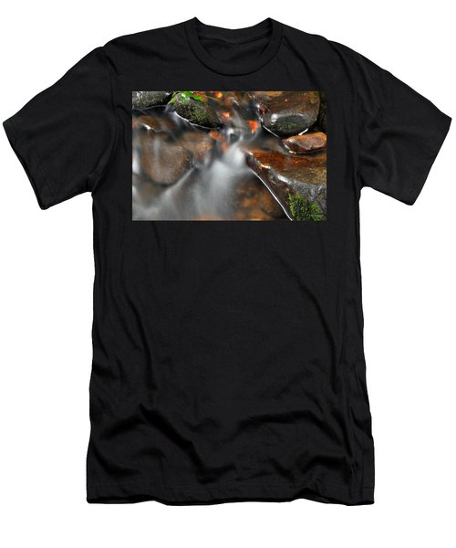 Water Over Rocks Men's T-Shirt (Athletic Fit)