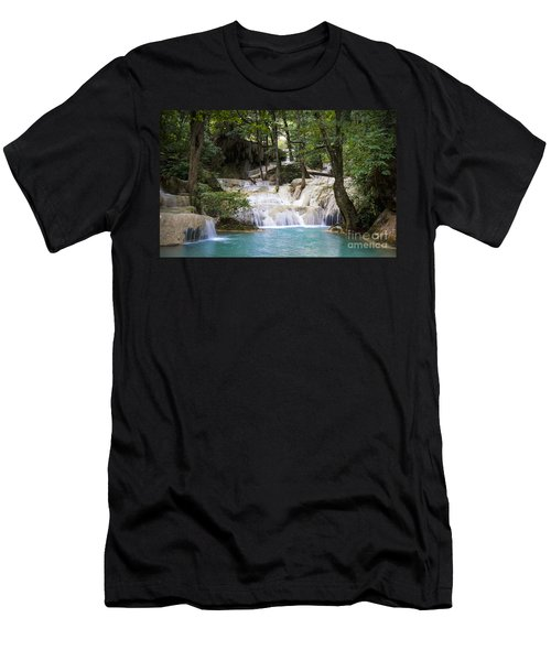 Waterfall In Deep Forest Men's T-Shirt (Athletic Fit)