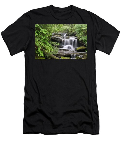 Waterfall Near Mabbitt Spring Men's T-Shirt (Athletic Fit)