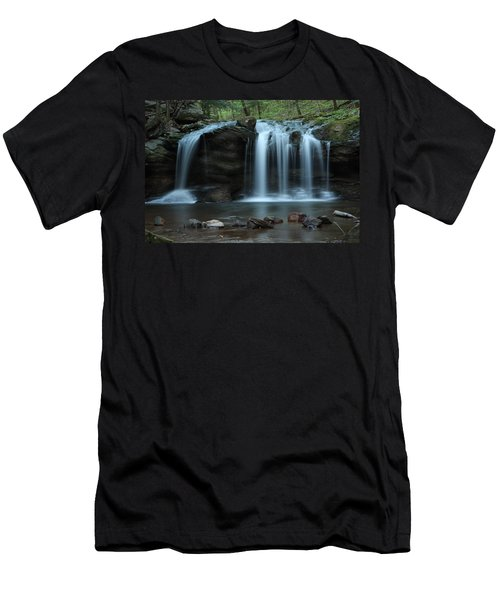Waterfall On Flat Fork Men's T-Shirt (Slim Fit) by Daniel Reed