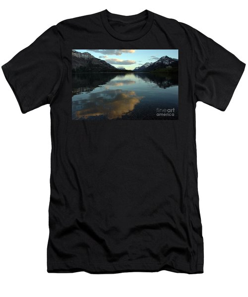 Waterton Lake Sunset Canada Men's T-Shirt (Slim Fit) by Vivian Christopher
