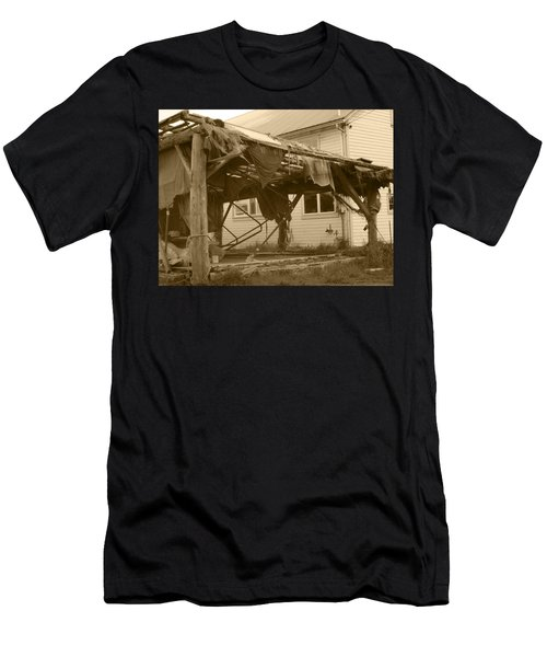 Weathered And Blown To Pieces Men's T-Shirt (Slim Fit) by Kym Backland