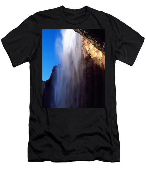 Weeping Rock Waterfall Men's T-Shirt (Athletic Fit)