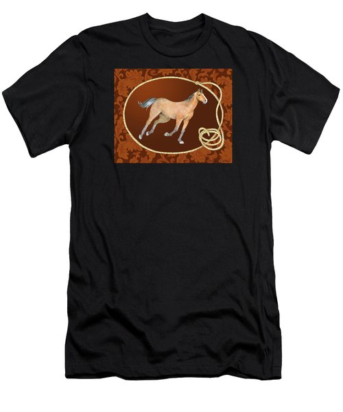 Western Roundup Running Horse Men's T-Shirt (Athletic Fit)