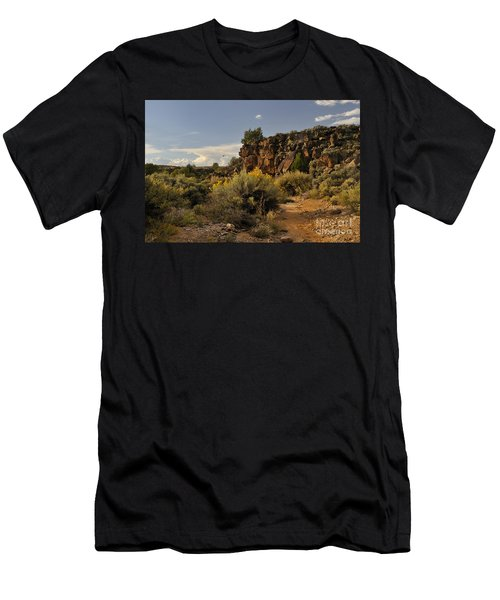 Men's T-Shirt (Athletic Fit) featuring the photograph Westward Across The Mesa by Ron Cline