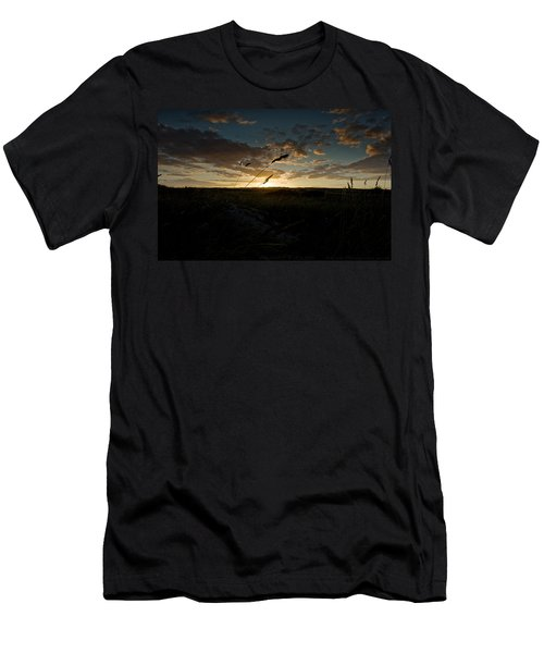 Wheat Fields  Men's T-Shirt (Athletic Fit)