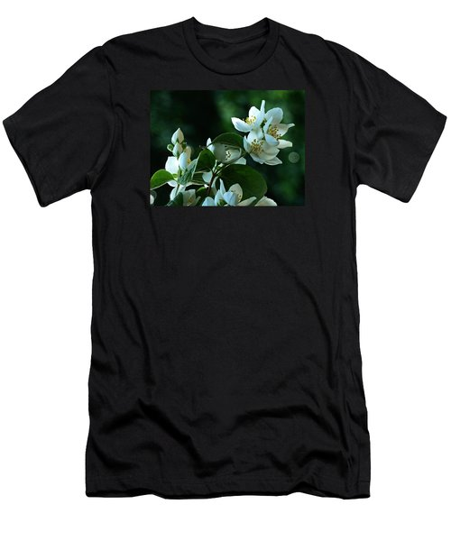 Men's T-Shirt (Slim Fit) featuring the photograph White Buds And Blossoms by Steve Taylor