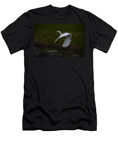 White Egret Men's T-Shirt (Athletic Fit)