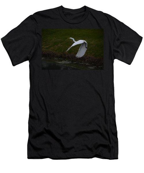 White Egret Men's T-Shirt (Slim Fit) by Randy J Heath