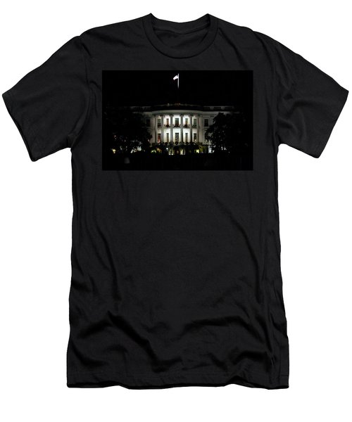 Men's T-Shirt (Slim Fit) featuring the photograph White House In December by Suzanne Stout