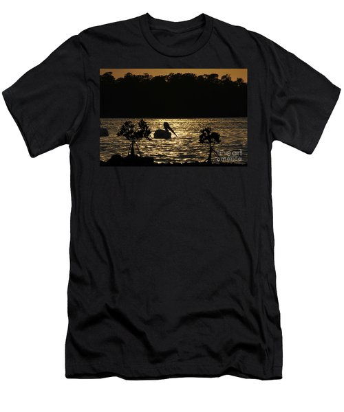 Men's T-Shirt (Slim Fit) featuring the photograph White Pelican Evening by Dan Friend
