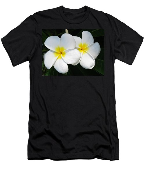 White Plumerias Men's T-Shirt (Athletic Fit)