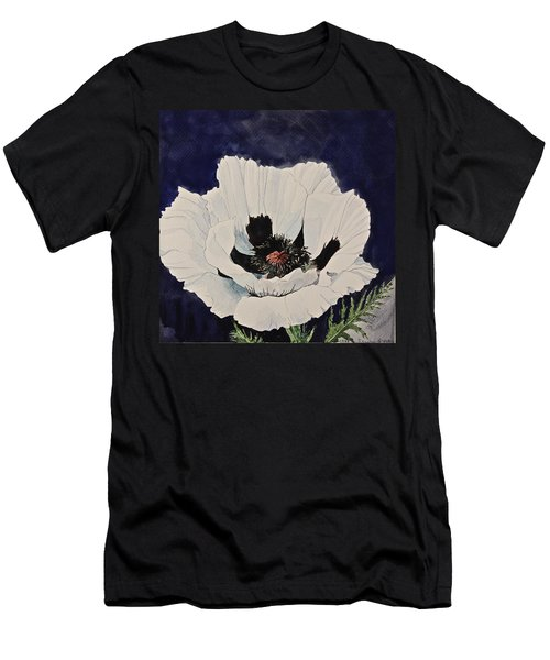 White Poppy-posthumously Presented Paintings Of Sachi Spohn  Men's T-Shirt (Slim Fit)