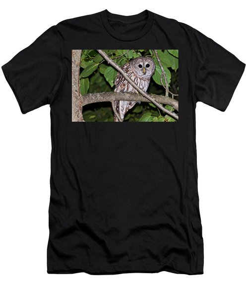 Men's T-Shirt (Slim Fit) featuring the photograph Who Are You Looking At by Cheryl Baxter