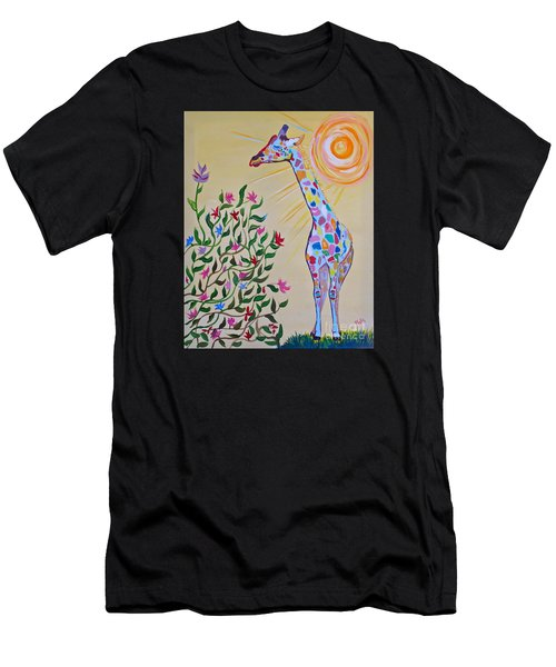Wild And Crazy Giraffe Men's T-Shirt (Athletic Fit)