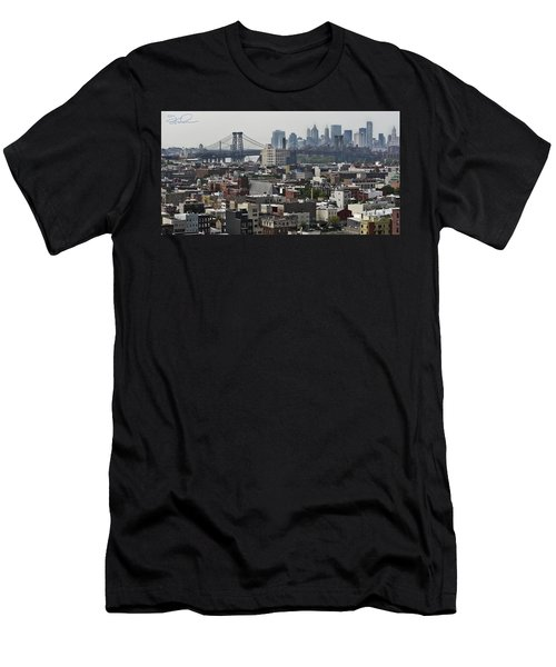 Williamsburg Bridge Men's T-Shirt (Athletic Fit)