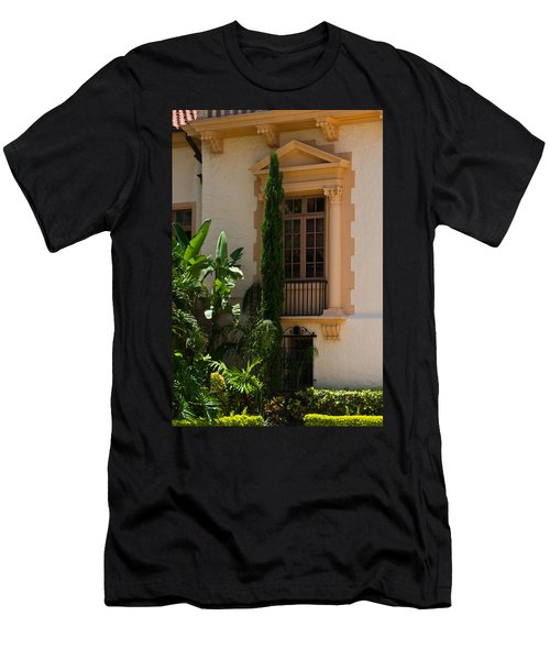 Men's T-Shirt (Slim Fit) featuring the photograph Window At The Biltmore by Ed Gleichman
