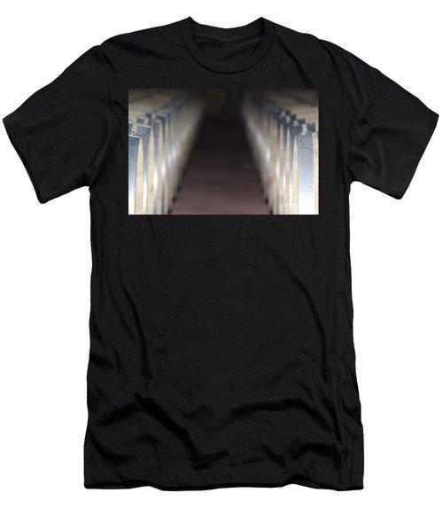 Wine Barrels In Line Men's T-Shirt (Athletic Fit)