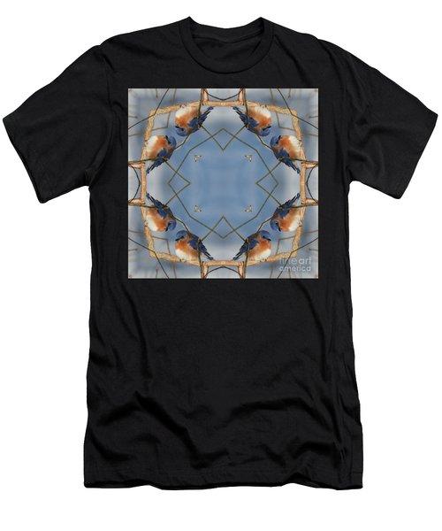 Winter Bluebird Kaleidoscope Men's T-Shirt (Athletic Fit)