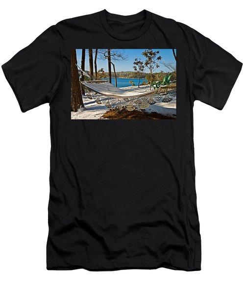 Men's T-Shirt (Slim Fit) featuring the photograph Winter Hammock by Susan Leggett