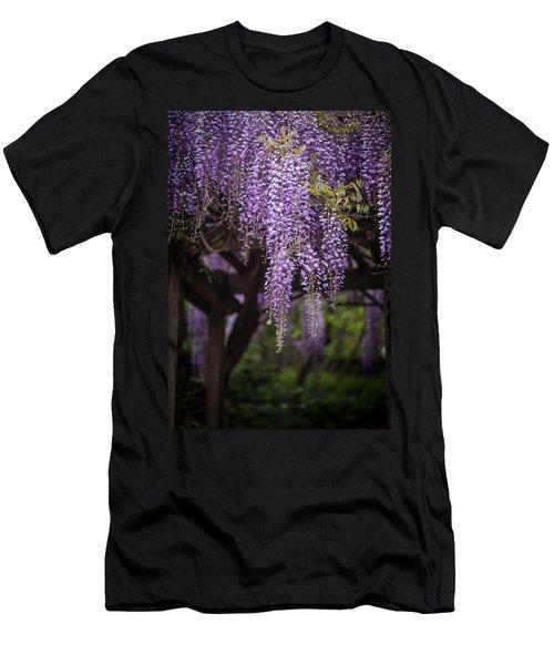 Wisteria Droplets Men's T-Shirt (Athletic Fit)