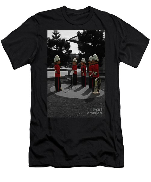 Men's T-Shirt (Slim Fit) featuring the photograph Wooden Bandsmen by Blair Stuart