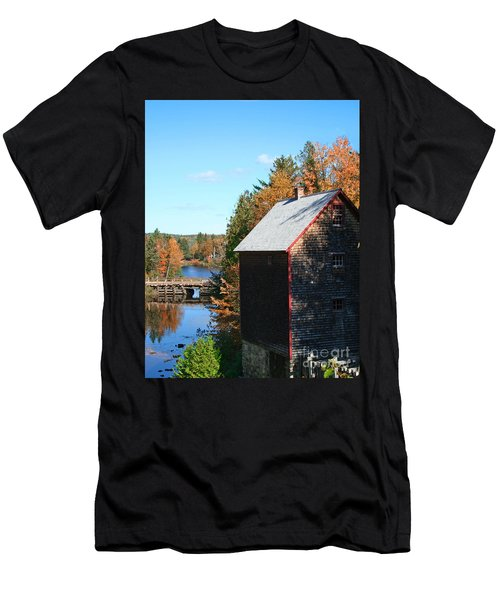 Men's T-Shirt (Slim Fit) featuring the photograph Working Gristmill by Barbara McMahon