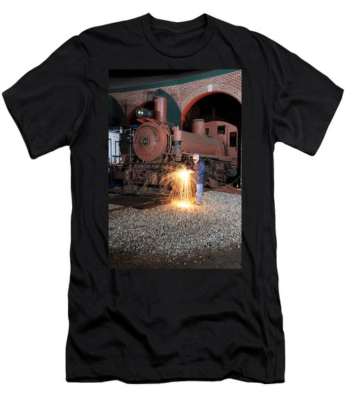 Working On The Railroad Men's T-Shirt (Athletic Fit)