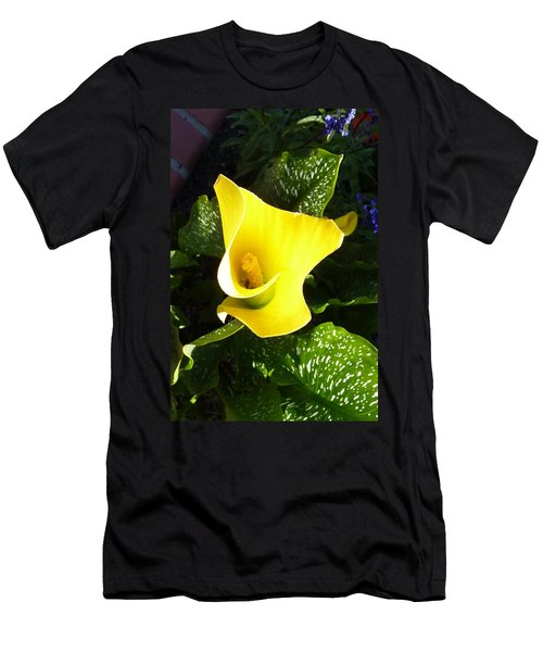 Yellow Calla Lily Men's T-Shirt (Slim Fit) by Carla Parris