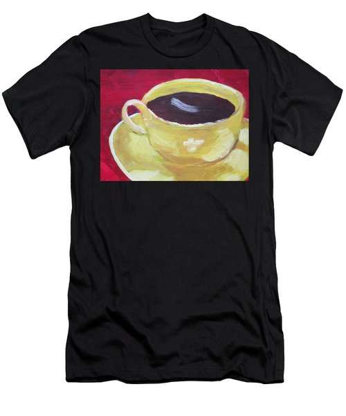 Yellow Cup On Red Men's T-Shirt (Athletic Fit)