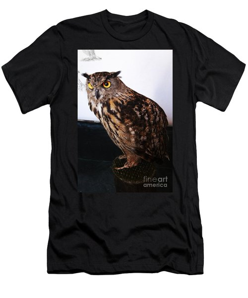 Yellow-eyed Owl Side Men's T-Shirt (Athletic Fit)