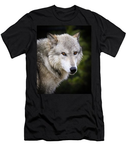 Men's T-Shirt (Slim Fit) featuring the photograph Yellow Eyes by Steve McKinzie