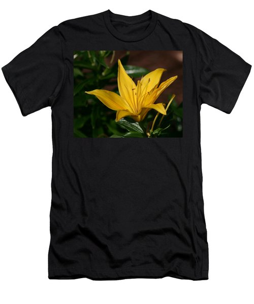 Yellow Lily Men's T-Shirt (Athletic Fit)