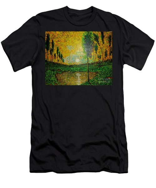Yellow Pond Men's T-Shirt (Athletic Fit)
