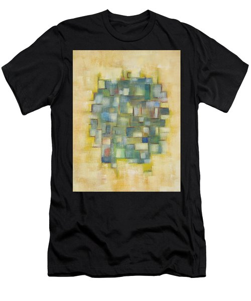 Yellow With Green  Men's T-Shirt (Athletic Fit)