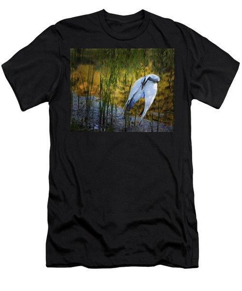 Zen Pond Men's T-Shirt (Slim Fit) by Melinda Hughes-Berland