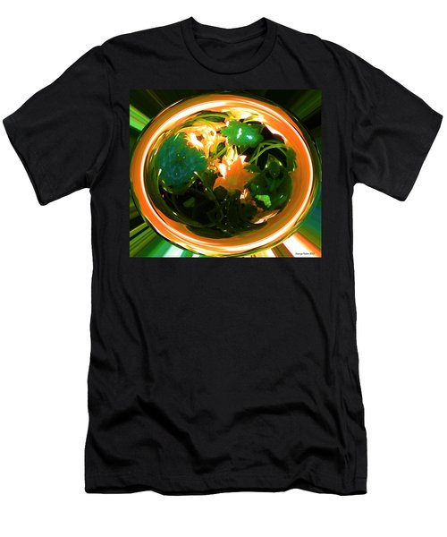Men's T-Shirt (Slim Fit) featuring the photograph Zucchini Flowers Under Glass by George Pedro