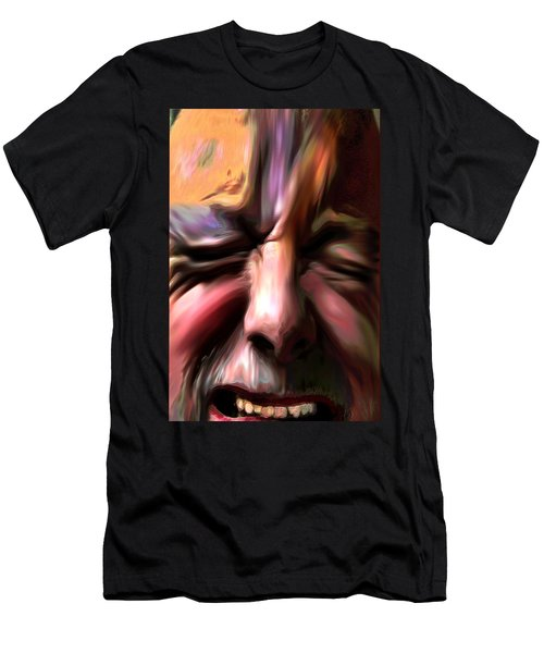 Men's T-Shirt (Slim Fit) featuring the photograph       Disabled Vet by Terence Morrissey