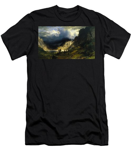 A Storm In The Rocky Mountains Mt. Rosalie Men's T-Shirt (Athletic Fit)