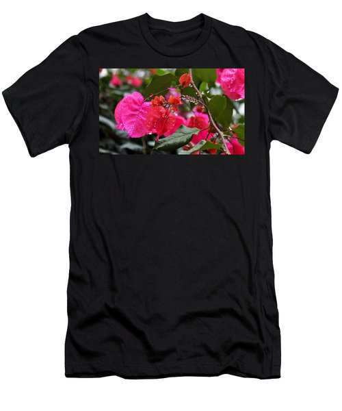 Bougainvillea In The Rain Men's T-Shirt (Athletic Fit)